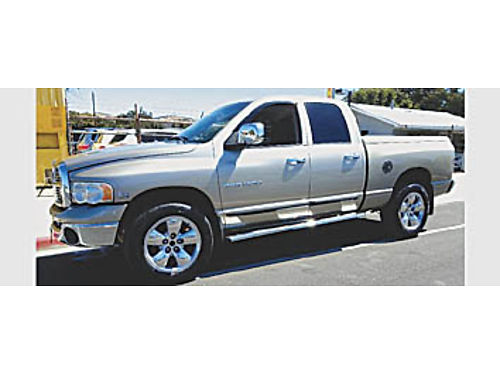 2004 DODGE RAM 1500 - QUAD CAB SLT 4WD 57L Hemi V8 at ac pw pdl CD local pseat 179936