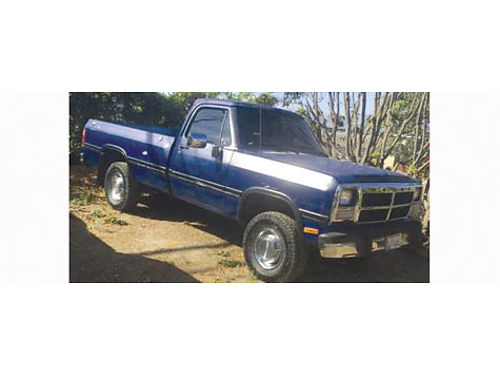 1991 DODGE RAM 2500 Cummins Diesel 50L auto 136K mi new tires longbed tow hitch runs good