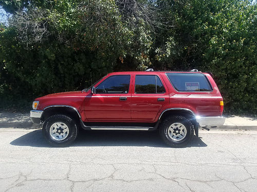 1994 TOYOTA 4RUNNER SR5 auto V6 4x4 all power AC new Alpine CD stereo  tires wall receipts o