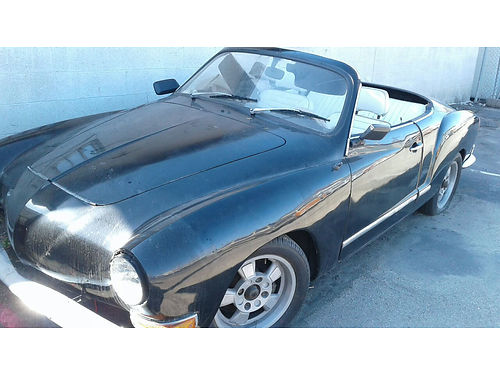 1970 VW KARMANN GHIA Convertible good engine solid body no rust or dents 7900 805-653-2483