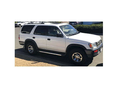 1998 TOYOTA 4 RUNNER 2 wd auto V6 orig owner all maint records 166K mi new tires  brakes AC