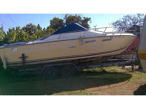 1978 SEARAY 24 V8 Merc Inboard eng stored hardly used includes cover dual axle trailer with a
