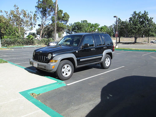 2005 JEEP LIBERTY 4x4 auto 6 cyl all power AC CD alarm new radiator well maint great cond