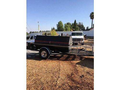 BBQ TRAILER 16 long hydraulic lid for opening and closing cook while going down the road 5800
