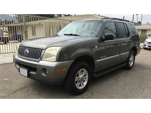 2002 MERCURY MOUNTAINEER auto all power 3rd seat well maint good cond very clean  detailed r