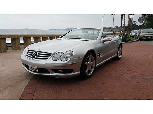 2004 MERCEDES BENZ AMG SL55 CONVERTIBLE Hardtop with Panoramic Roof Non Smoker