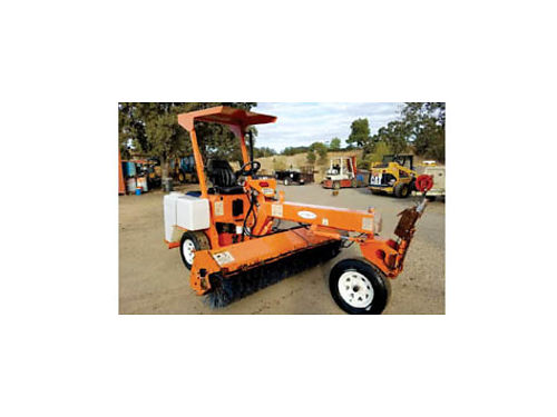 2002 WALDON LAYMOR SWEEPER 8HC Kubota Diesel 1416 hrs Extra Broom Very Good Condition 8500 in