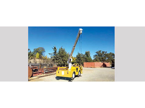 1976 DROTT CARRY DECK CRANE 85 RN2 10500 lb Capacity Continental Gas 4 Cyl