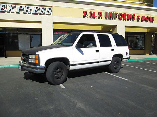 1996 GMC YUKON 4X4 auto V8 CD stereo leather seats alarm tow pkg smog certificate runs good
