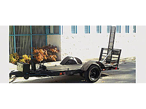 TRAILER FOR MOTORCYCLE 3ft by 8ft bed Full Size will fit 1 motorcycle or 2 med ATVs mounted tool