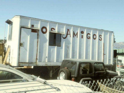 CARGO TRAILER 8 X 26 on wheels with tires Modified - sturdy stairway 1 door 3 windows  1 rear