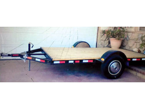 FLATBED UTILITY TRAILER 6 X 12 single axle Custom built Heavy Duty with C-Channel steel tows
