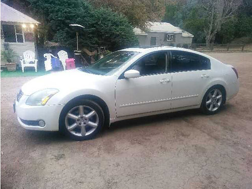 2004 NISSAN MAXIMA auto V6 all pwr AC stereo snrf leather 162K mi very clean in  out nice