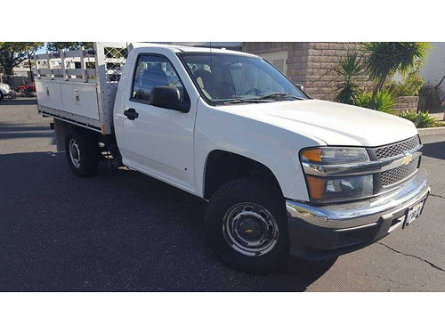 2007 CHEVY COLORADO STAKE BED TRUCK Chassis cab with 8x6 Aluminum stake bed Two side mounted too