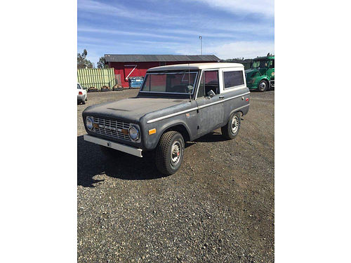 1972 FORD BRONCO Sport mdl Survivor Garaged for the last 15 yrs new tires carb master cyl dis