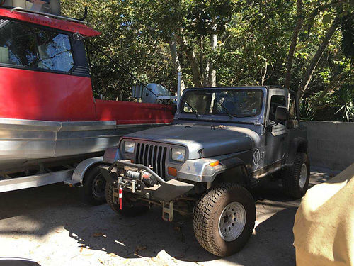 1994 JEEP WRANGLER UT Gray lots of recent work runs strong up to date reg  smog ready to roll