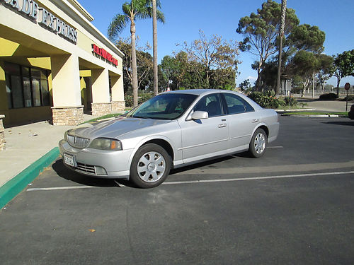 2005 LINCOLN LS engine replaced w51K miles SilverTan leather 6 CD many new components sport p