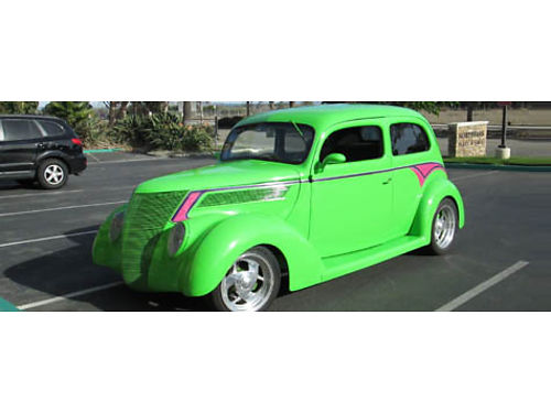 1937 FORD SLANTBACK SEDAN 350 Chevy700 R4 trans too much to list - build shee