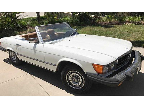 1980 MBZ 450SL CONVT auto 8cyl soft and hard tops Whitelight brown interior 135K orig miles e