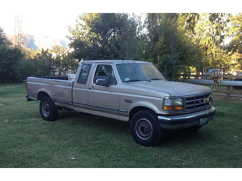 1993 FORD F250 EXT CAB 2 dr daily driver smogged body rough 1700