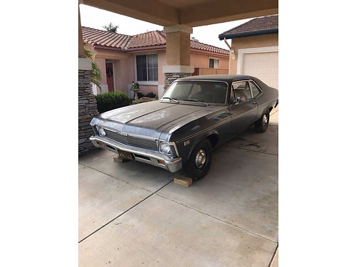 1968 CHEVY NOVA 2 dr ht powerglide 6cyl auto 96K orig miles body orig  straight wgood paint