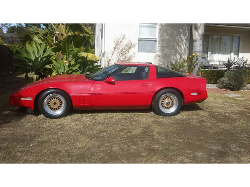 1985 CHEVROLET CORVETTE Project car 135K miles air pwr window stereo removable top 5000