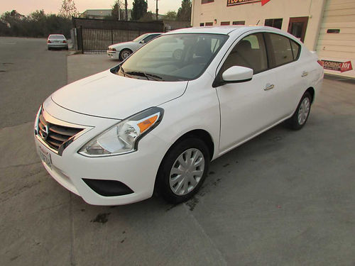 2016 NISSAN VERSA SV 4 dr ac pdl pw cd blk cloth seatswhite ext tires 70  19997 mi all s