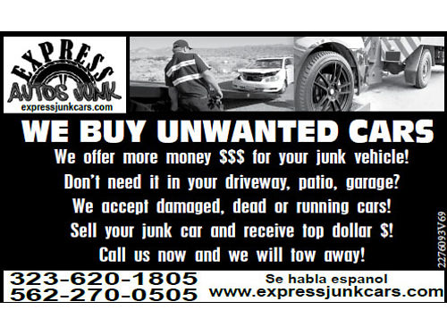 WE WILL BUY YOUR JUNK TRUCK VAN ANY VEHICLE etc When you sell your junk car we will pay you top