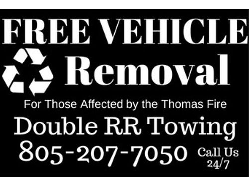 ATTN THOSE AFFECTED BY THE THOMAS FIRES FREE Towing and Removal of your Unwanted Vehicles Ventu