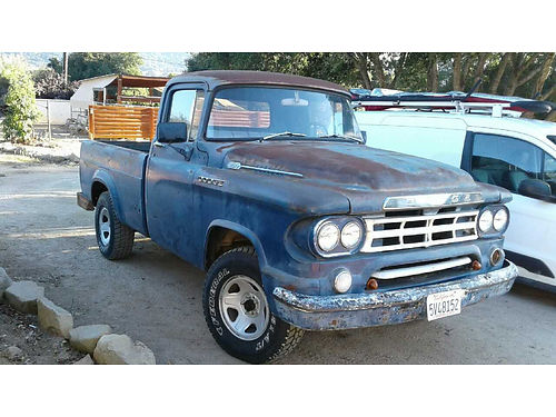 1959 DODGE D100 PICKUP 4 spd on floor 6 cyl new pwr brks electronic ign carb rear end starte