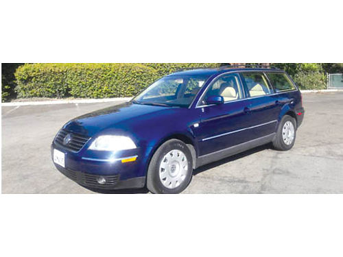 2002 VW PASSAT GLS WAGON 4 dr auto OD Turbo 4cyl pb pm pdl pw ac ABS airbags cassCD htd