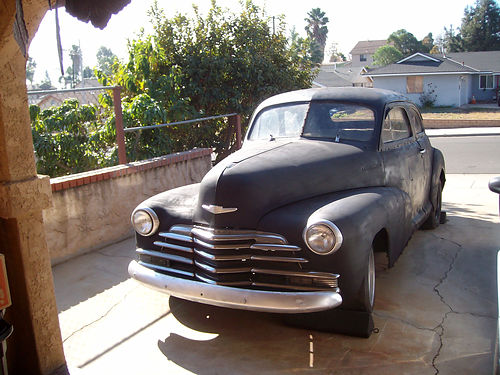 1947 CHEVY COUPE 2 door farm find complete car no motor trans great project Includes Chevy Ch