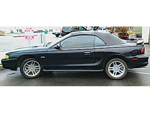 1998 FORD MUSTANG GT - Black convertible V8 AT no issues or problems Go Topless Fun car has a n