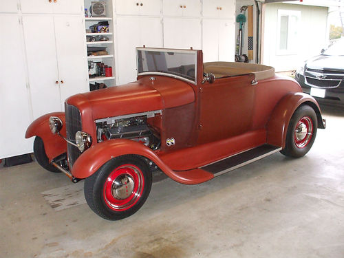 1929 FORD MODEL A - CA Vin A1476452 TCI Ind front end disc on front only glide seat frame with l