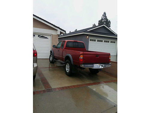 2002 TOYOTA TACOMA EXT CAB auto V6 143828 orig mi runs great AC good cond but needs body work
