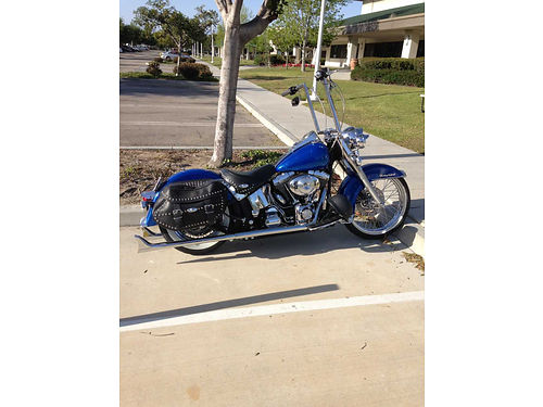 2005 HARLEY HERITAGE softtail classic candy blue 21 wheel 18 pipes fishtails oil change and b
