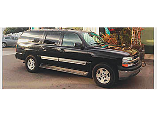 2004 CHEVY SUBURBAN LT - 2WD 173K 3rd seat moonroof DVDCD BlueTooth Bose loaded Black with