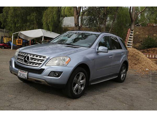 2011 MERCEDES ML350 634196 Bluetec Diesel 102K mi like new Alpine Blue grey real lthr htd sea