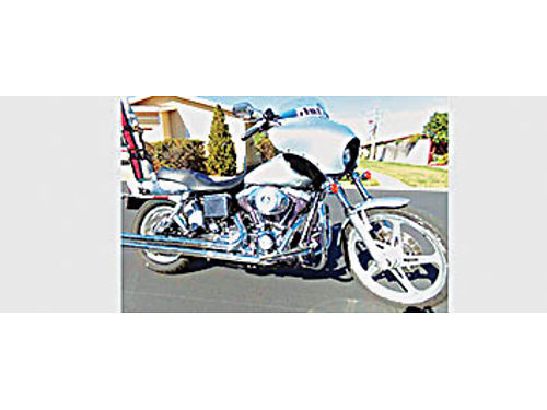 2002 HARLEY-DAVIDSON Dyna wide glide - silver maintained every 3-4K miles floor boards rare front