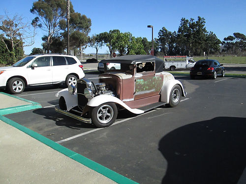 1931 FORD MODEL A Sport Cpe 350350 narrowed 9 Ford Steel body Chopped 4 steel top 3K mi or s