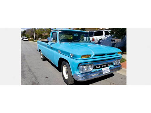 1966 GMC 34 TON V6 351 4 spd on the floorgranny gears needs minor restoration runs great lon
