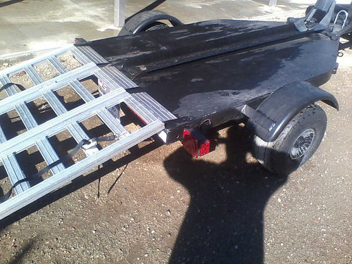 ZIEMAN MOTORCYCLE TRAILER 1000 lb capacity new ramps current reg new lights in great shape ca
