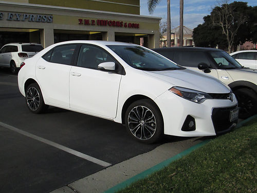 2015 TOYOTA COROLLA S auto pwr shifter 4 cyl all power AC CD alarm 60K miles well maint gr