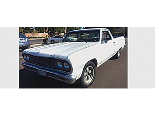 1964 CHEVY EL CAMINO PROJECT CAR Runs good 6 cyl new carb new tires new brakes new frt window