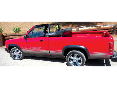 1989 DODGE DAKOTA CONVERTIBLE TRUCK 30K mi orig No rust 39L V-6 auto ABS tilt whl ps pw pd