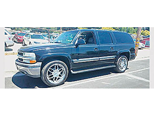2003 CHEVY SUBURBAN 1500 LT - 53 V8 at ac ps pwpdl cc CD rear AC pseats lthr 309481