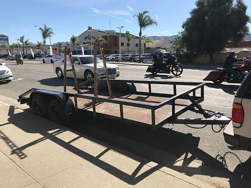 CAR TRAILER 7 Foot X 16 Foot Heavy Duty dual axle incl removable A-Frame for work use loading r