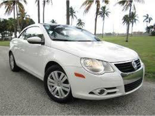 2009 VW EOS CONVT TURBO auto 4cyl 82K orig mi auto snrf super clean powerf