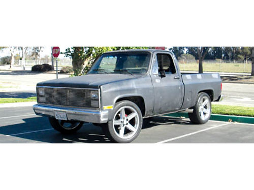 1986 CHEVY C10 auto 57L V8 shortbed new crate eng wchrome cust upholstery  whls shaved Flo