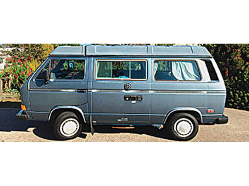 1987 VW WESTFALIA VANAGON GL - 4 spd 2325K mi new engine124K trans144K New clutch valve cy